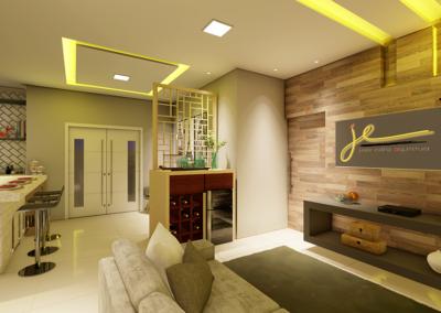 Cozinha, Sala de TV e Hall de Entrada