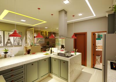 Cozinha, Hall de Entrada e Sala